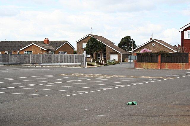 Modern Housing behind a Deserted Car Park