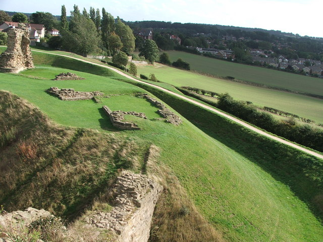 Sandal Castle remains.