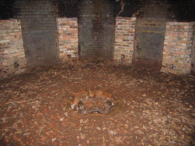 Interior of kiln near Bailey's Hard