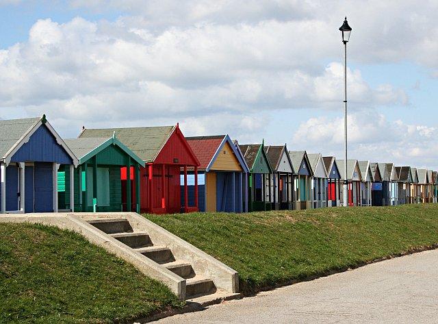 Beach Huts along the Promenade