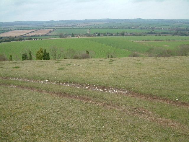 View towards Knighton Hill