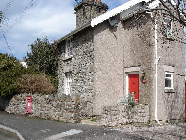 The old post office at Llanelian