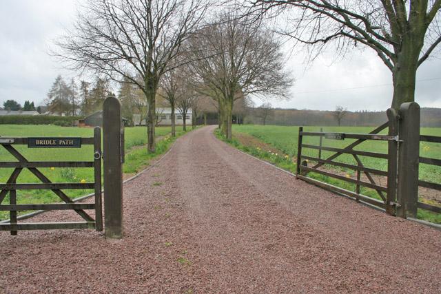 Farm Entrance off Leicester Lane near Swithland