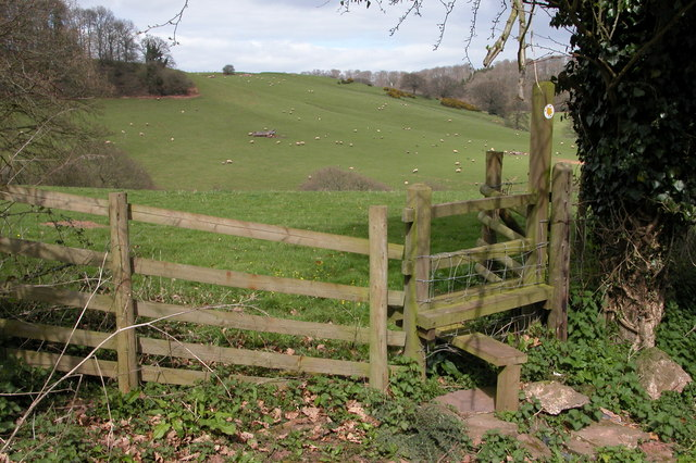 Stile and Footpath, Lunnon Farm, Vowchurch Common