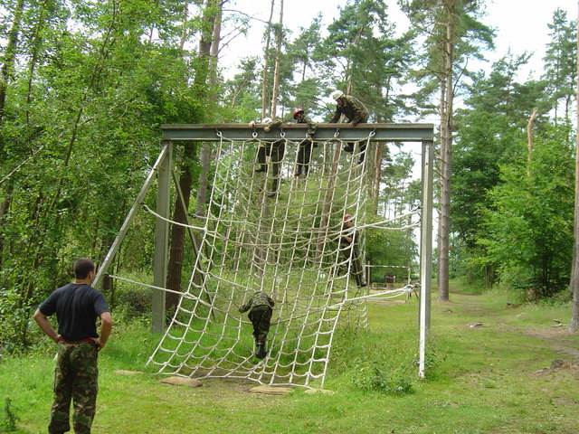 One of the obstacles on the assault course