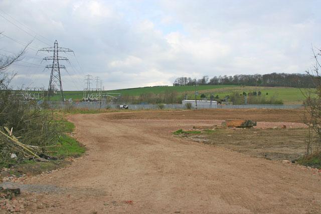 Construction area on Belton Lane, Grantham