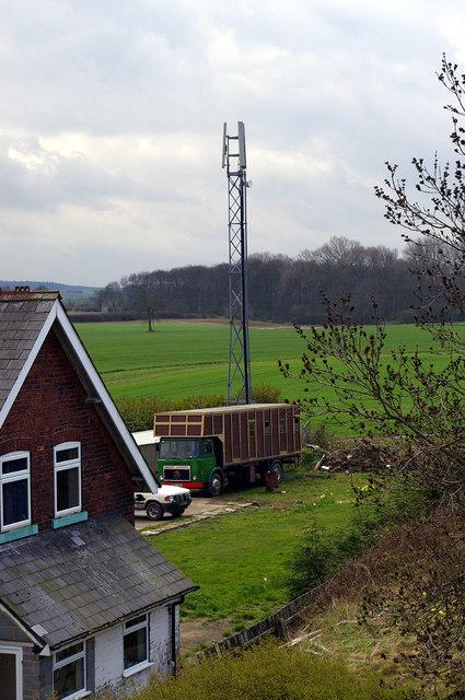 Aerial nr. Brocklesby Station