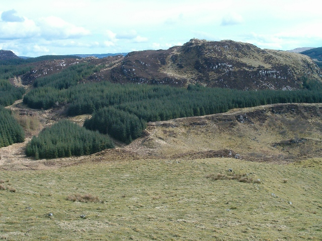 View towards Dun an Dubh-challa