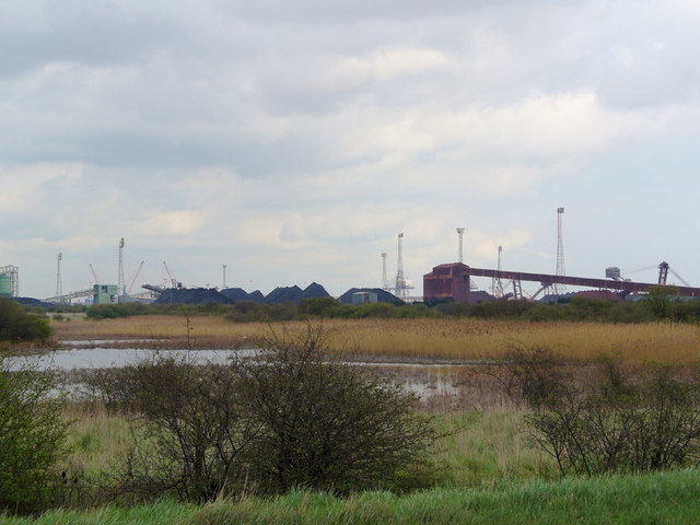 Looking towards Immingham Ore Terminal