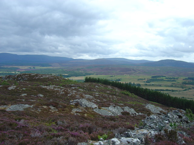 A view to the south from hills above Kingussie