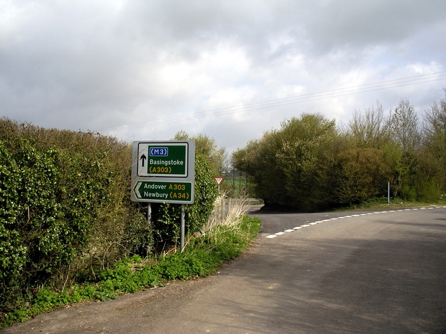 Junction of minor road with A303