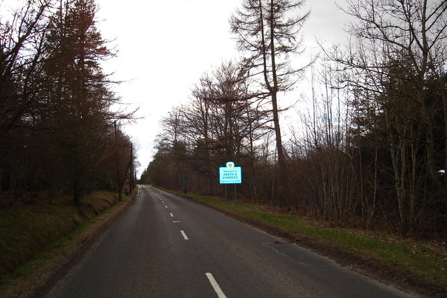 Alyth to Kirriemuir Road at County Boundary