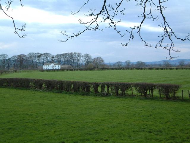 House & fields near Lockerbie