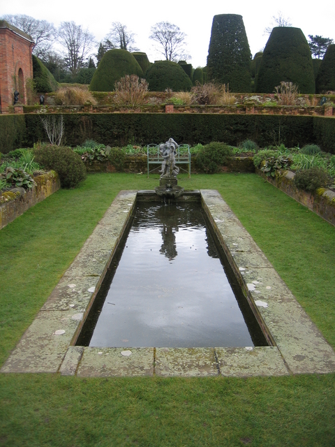 Ornamental pond at packwood house david stowell cc by sa for Ornamental pond