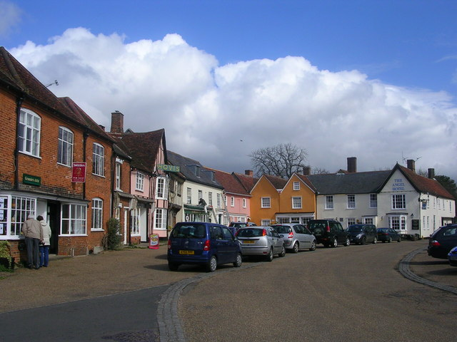 Marketplace and Angel Hotel, Lavenham