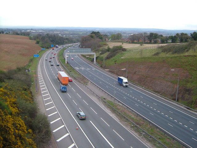 M5 near Exminster