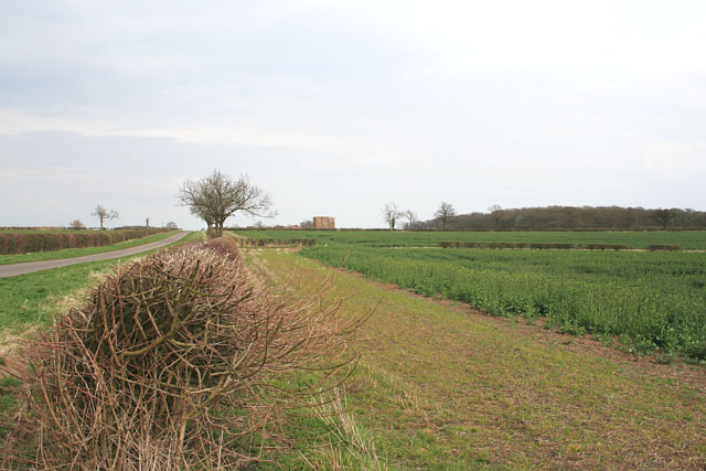 Farmland along Moor Lane near Sapperton and Braceby