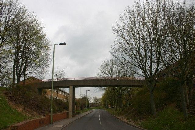Footbridge over King Arthur's Way