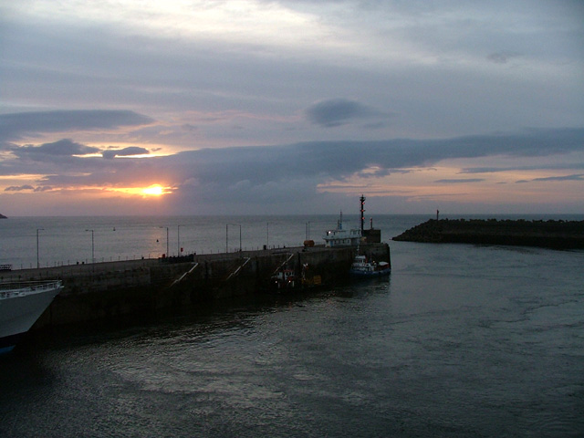 Douglas harbour at sunrise