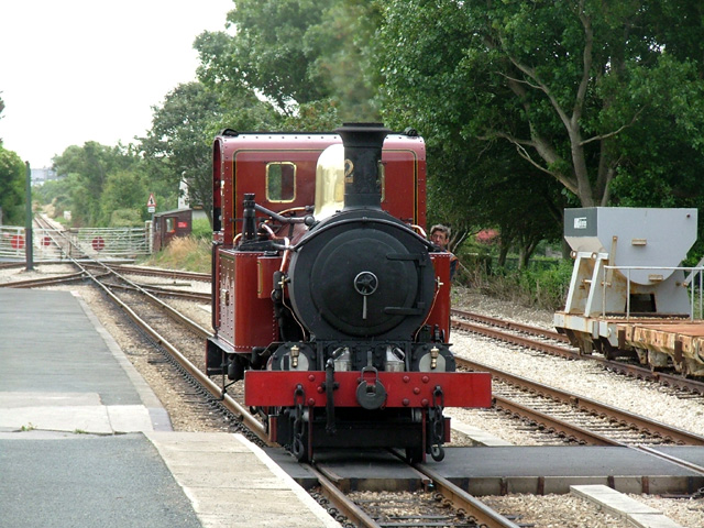 Steam locomotive at Port Erin Station