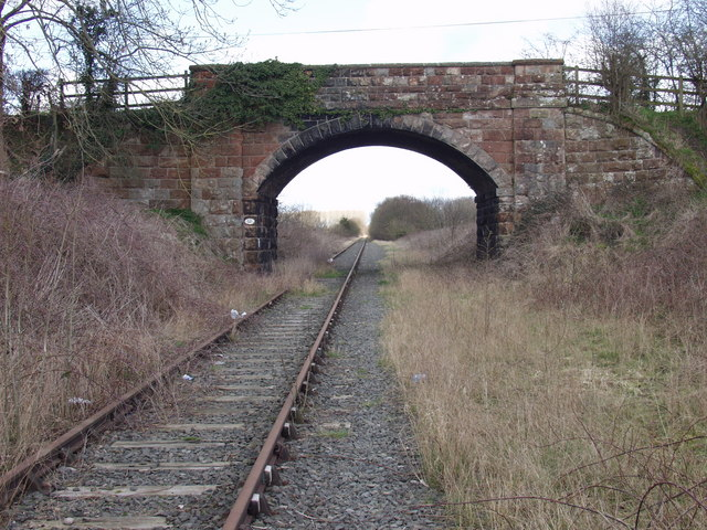 Morton Common road crosses the Oswestry to Welshpool railway