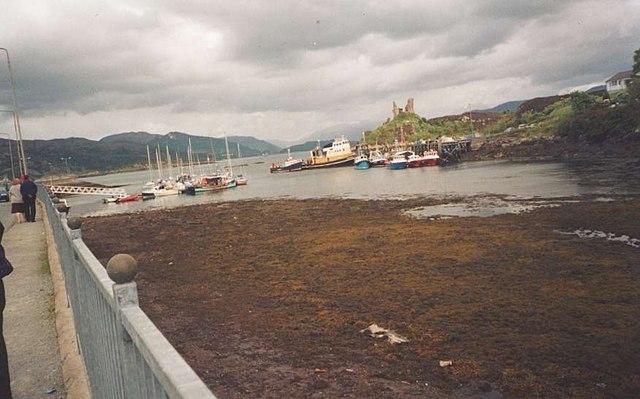 Kyleakin Harbour looking towards Caisteal Maol