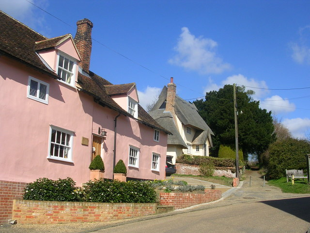 Cottages in Kersey, Suffolk