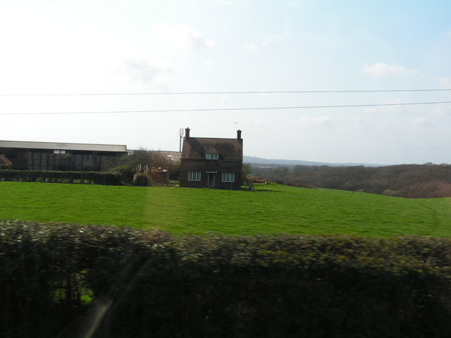 Rural house with views across the weald
