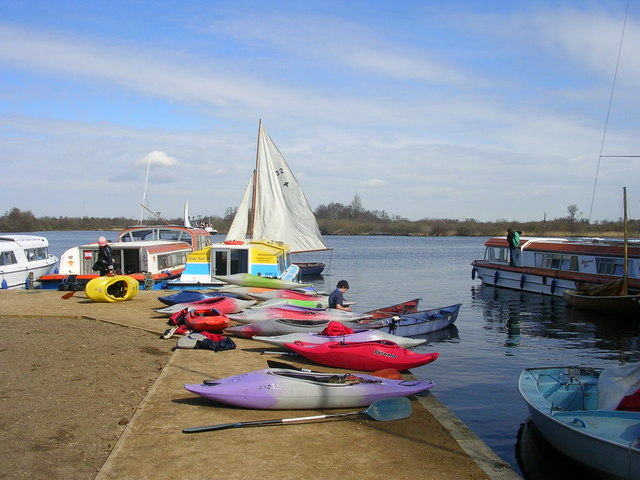 Boats at Malthouse Broad, Ranworth