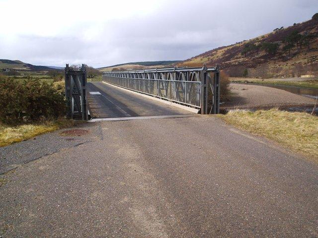 A Bailey  Bridge on the River Oykel