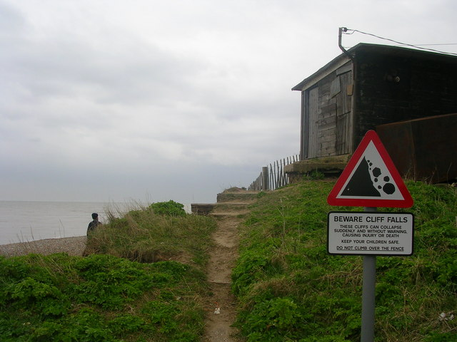 Beware of Cliff Falls at Dunwich!
