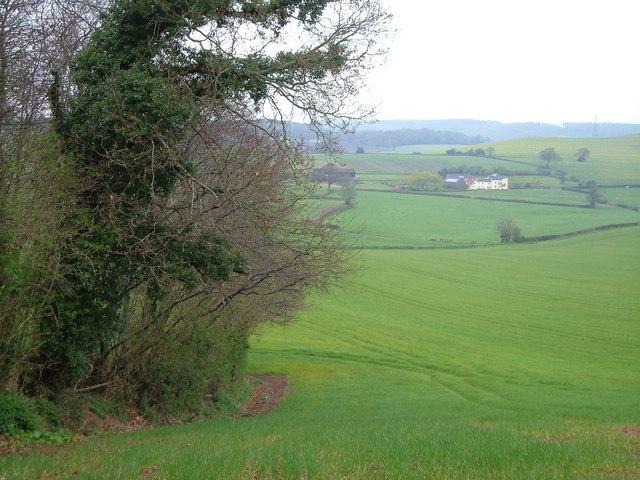 Helwell Farm from Kenton Common