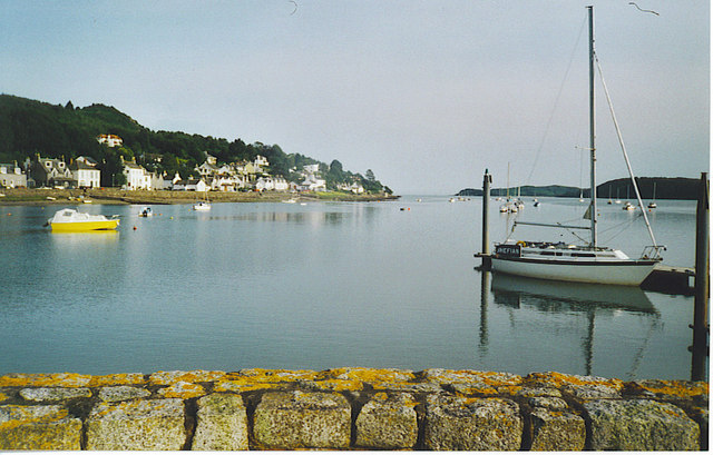 Moorings at Kippford from the Jetty.