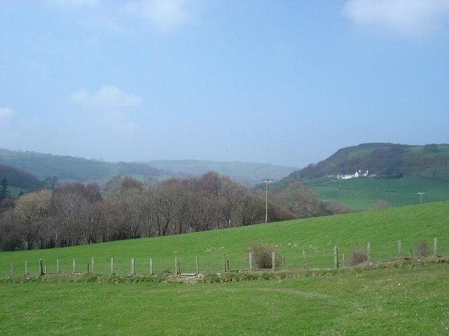 Farmland near Mynydd y gyrt