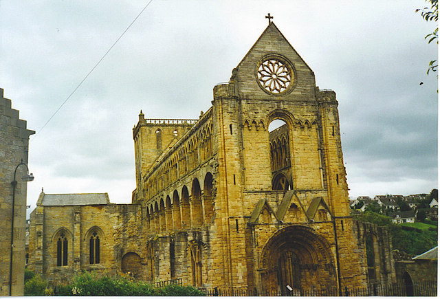 Jedburgh Abbey, Nave and Rose Window.