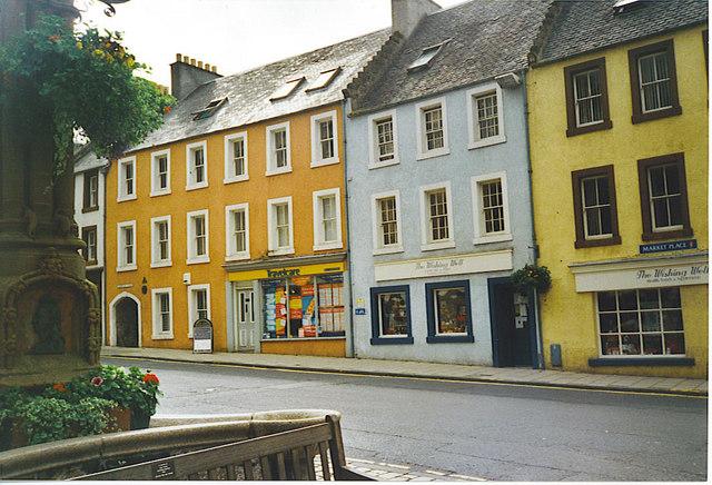 Jedburgh's Market Place.