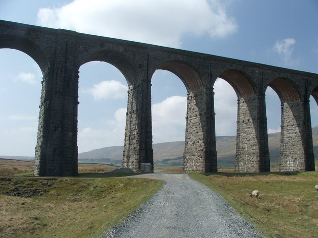 Section of Ribblehead Viaduct.