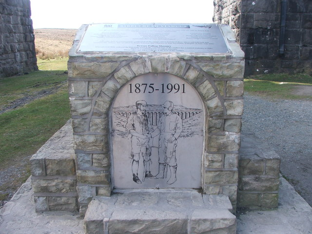 Commemorative plaque beneath Ribblehead Viaduct.