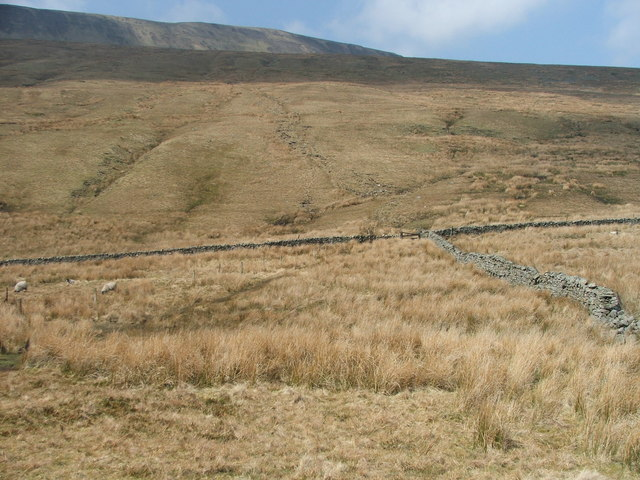 The old 3 Peaks Path to Whernside.