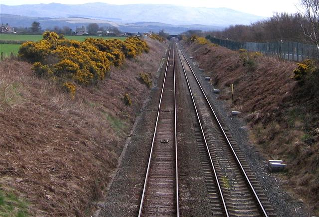 Looking southeast down the line