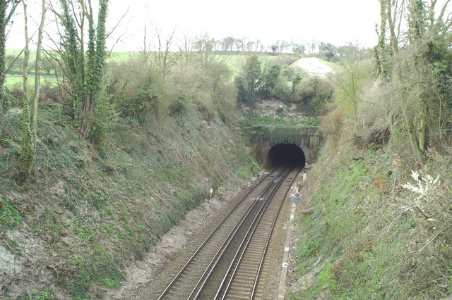 Tunnel on the London-Dover line