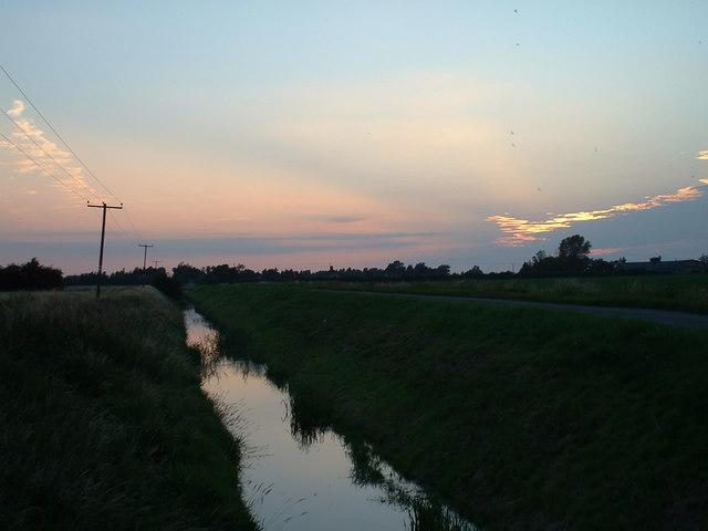 Looking west towards Wootton Marsh.
