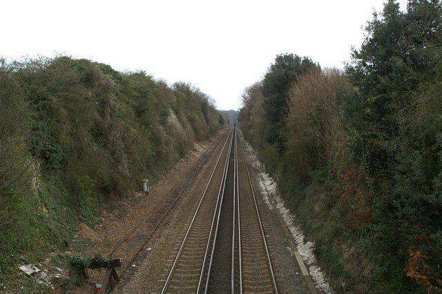 Cutting on the London-Dover line