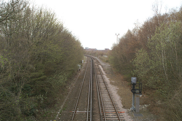 The London-Dover line at Frogham