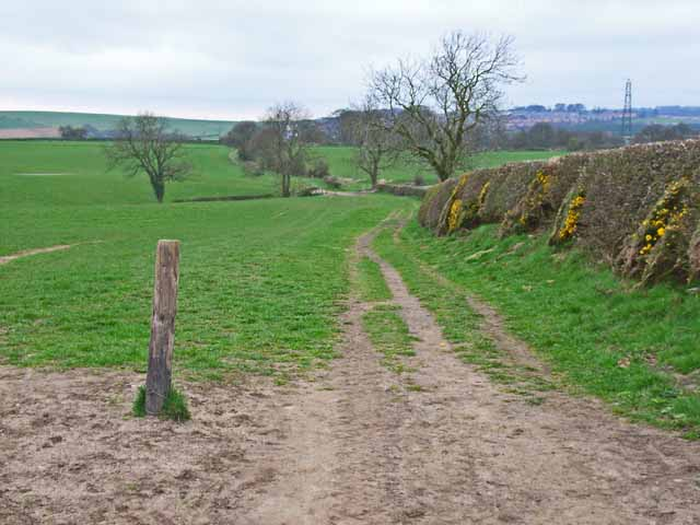 Bridleway from Newcastle Road, Durham to Stotgate Farm