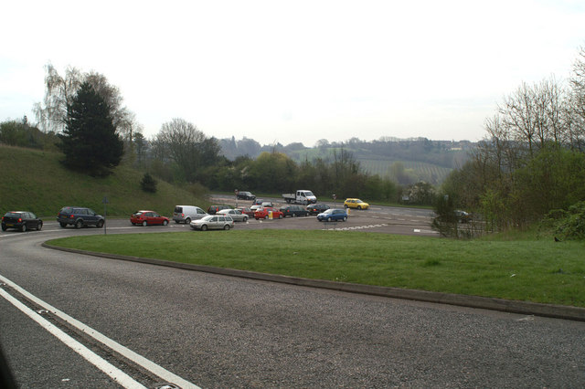 Queuing to get onto the A2050 at Harbledown