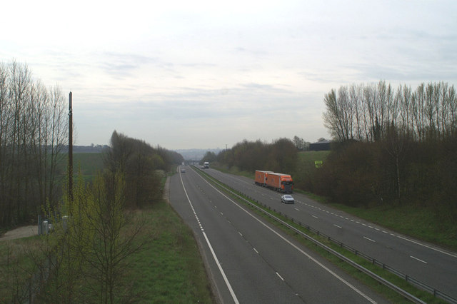 The A2, by-passing Canterbury at Harbledown