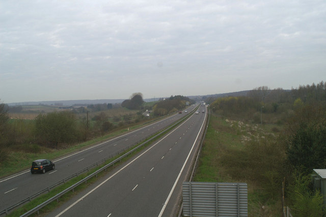 The junction of the new A2 with the A2050
