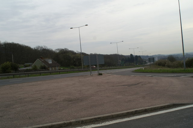 Junction of Denstead Lane with the A2