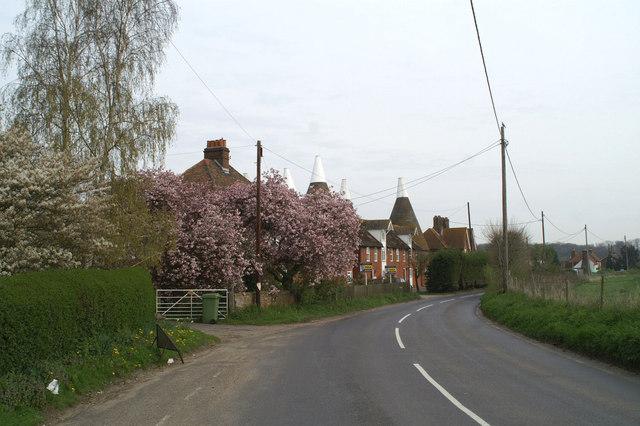 Converted oast house in Goodnestone